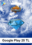 Google Play Heroes Titans 25 TL