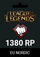 League Of Legends Eu Nordic 1300 RP +80 Bonus RP