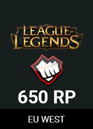 League Of Legends Eu West 650 RP