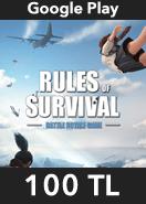 Rules of Survival Elmas Google Play 100 TL