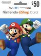 Nintendo eShop Gift Cards 50 Dolar