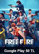 Garena Free Fire Google Play 50 TL Bakiye