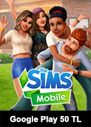 The Sims Mobile Google Play 50 TL Bakiye