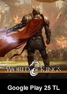 World Of Kings Google Play 25 TL Bakiye