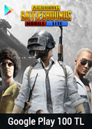 Google Play 100 TL Bakiye PUBG Mobile Lite