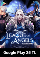 League of Angels Paradise Land Google Play 25 TL Bakiye