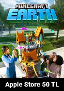 Minecraft Earth (Minecoins) Apple Store 50 TL Bakiye