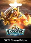 Lords Mobile Steam Cüzdan Kodu 50 TRY